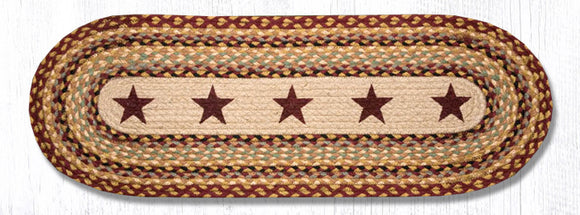 OP-357 Burgundy Stars Oval Patch Runner