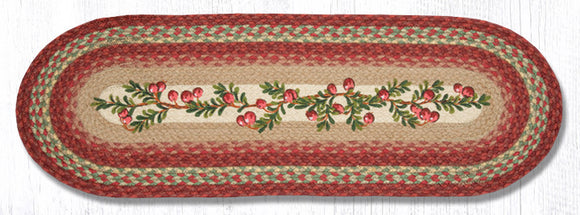 OP-390 Cranberries Oval Patch Runner