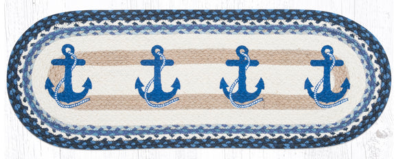 OP-443 Navy Anchor Oval Patch Runner