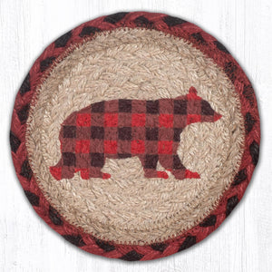 LC-396 Flannel Bear Large Coaster