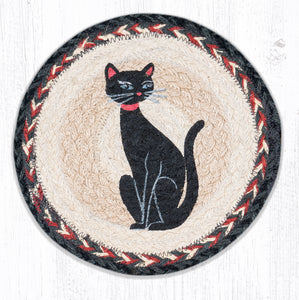 MSPR-9-238 Crazy Cat Red Ribbon Trivet