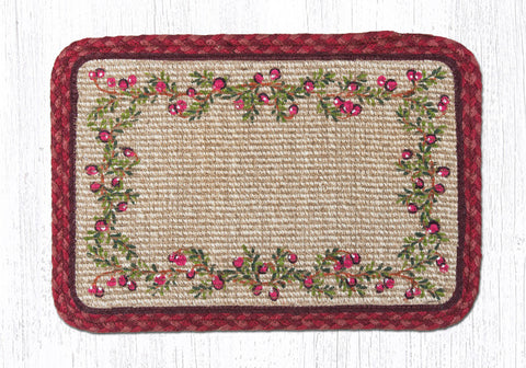 WW-390 Cranberries Wicker Weave Table Accent