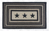PP-313 Black Stars Print Patch Rug
