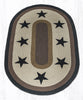 OP-099 Black Stars Oval Patch Rug