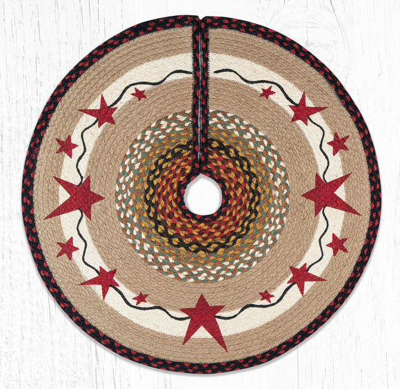 TSP-019 Primitive Stars Burgundy Tree Skirt