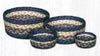 CB-079 Light & Dark Blue/Mustard Braided Baskets