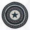 CH-313 Black Star Printed Chair Pad