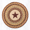CH-357 Burgundy Star Printed Chair Pad