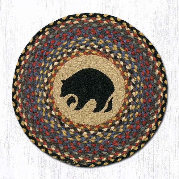 CH-043 Black Bear Chair Pad