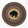CH-043 Black Bear Printed Chair Pad