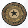 CH-099 Black Star Printed Chair Pad