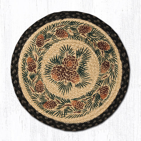 CH-025A Pinecone Printed Chair Pad