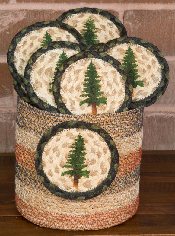 Basket of Coasters 116 Tall Timbers