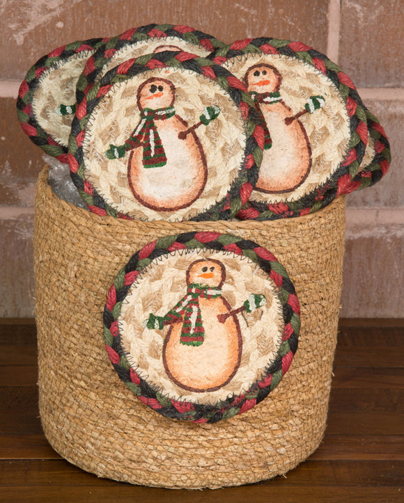 Basket of Coasters 81 Moon Star Snowman
