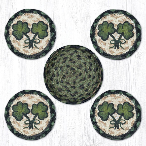 CNB-116 Shamrock Coaster Set
