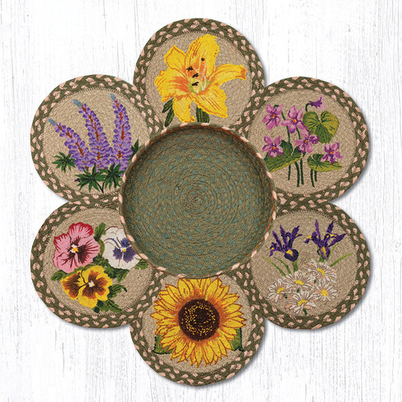 TNB-399 Flowers Trivet/Basket