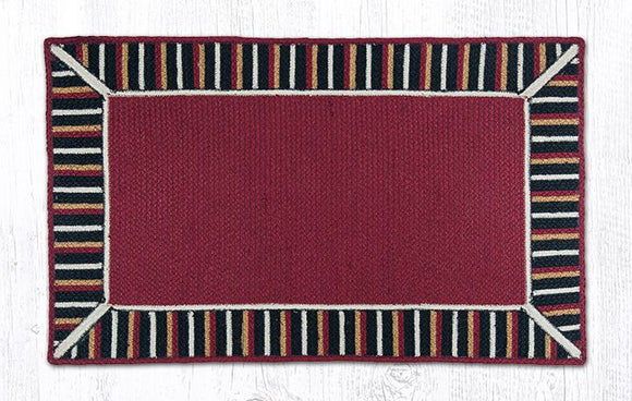 TSP-002 Burgundy/Black Braided Rug