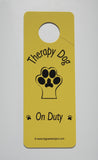 Therapy Dog Door Hangers