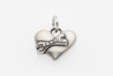Pewter Collar Charms - Heart & Bone Charms