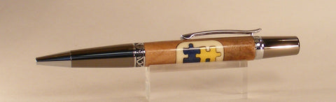 Autism Twist Pen - Fine Wood Pens