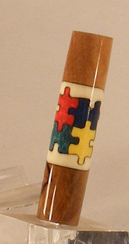 Autism puzzle pieces inlay for Sierra - Fine Wood Pens
