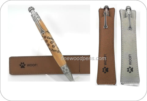 Paw Prints click pen. - Fine Wood Pens