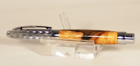 Fountain Pen in Madrone with Gold and Silver Accents - Fine Wood Pens