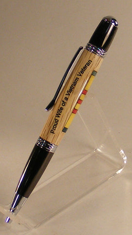 Proud Wife of a Veteran Twist Pen - Fine Wood Pens