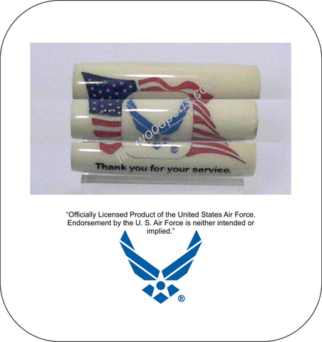 United States Air Force logo with American Flag background pen blank - Fine Wood Pens