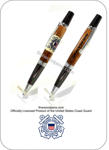 U.S. Navy inlay ballpoint pen - Fine Wood Pens