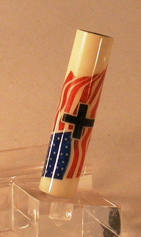 We Stand For The Flag, Kneel For The Cross - Fine Wood Pens