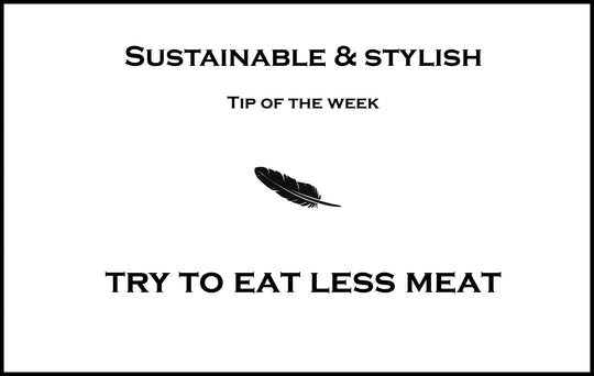 Try to eat less meat