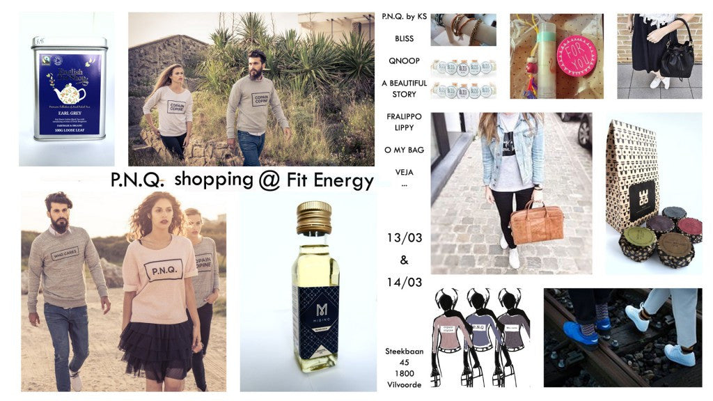 2 day PNQ pop-up store @ Fitenergy in Vilvoorde