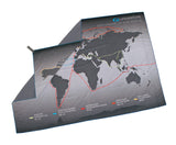Explorers world map large lightweight quick drying travel towel