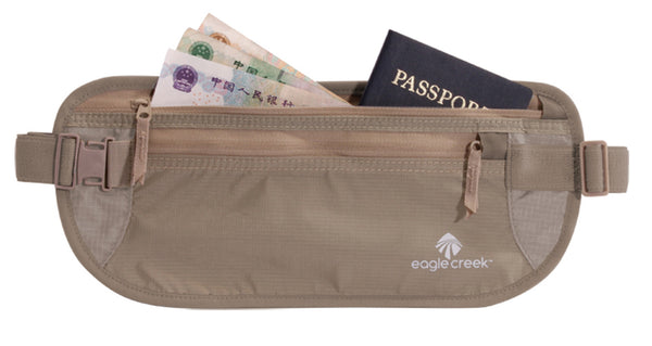 Waist money belt for travel documents and money