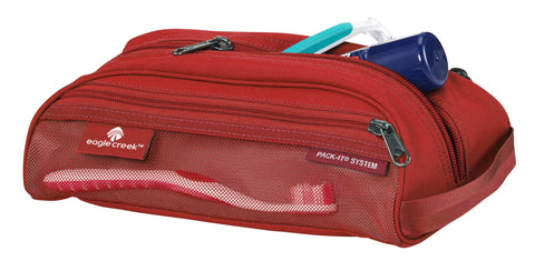 Red toiletry bag made by Eagle Creek