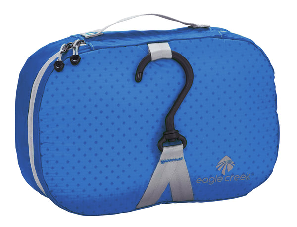 Padded toiletry bag with hanging hook