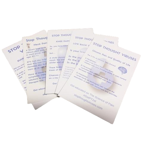 Stop Thought Viruses 4x6 Educational Cards - EDGE Mobility System