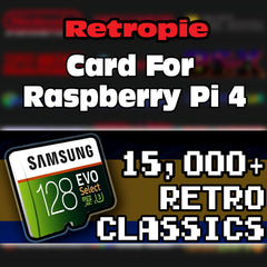 128 GB Retropie Raspberry Pi 4 Card - Premium Collection with Video Previews & 3D Boxart