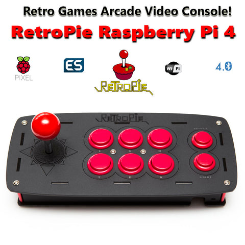 Retropie Arcade Retro Games Emulation Console based on  Raspberry Pi 4B 4GB  - 256GB - 24,000 Games!
