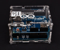 Transparent Arduino Uno & Ethernet Shield Enclosure