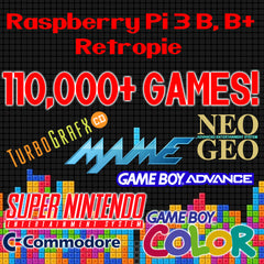 110,000+ Games For Raspberry Pi 3 B & B+ on 128GB MicroSD Card Retropie