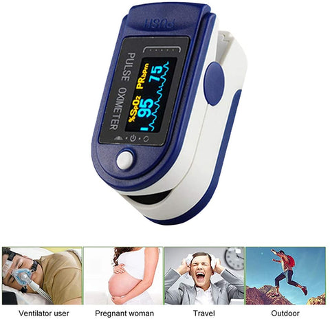 Digital Pulse Oximeter Blood Oxygen Saturation Monitor Heart Rate Monitor SPO2