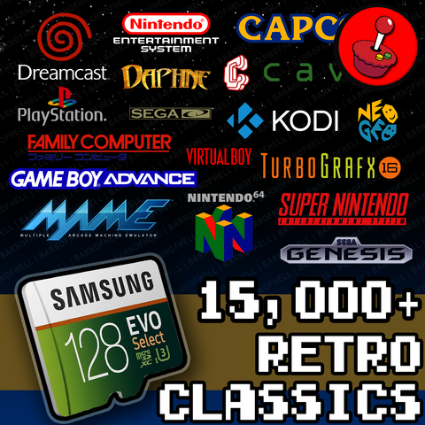 128 GB Retropie 4.4 SD Card - Premium Collection With Video Previews & 3D Boxart