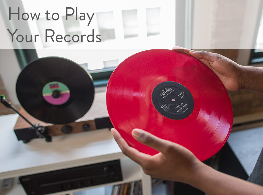 Floating Record Vertical Turntable – Vertical Record Player with Built-in Speakers | Support - How to Play Your Records