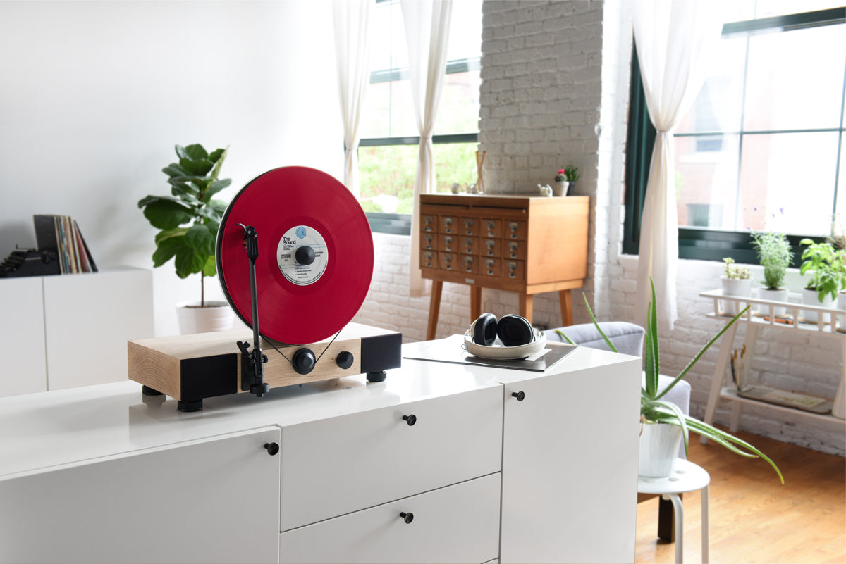 Introducing The Floating Record Vertical Turntable