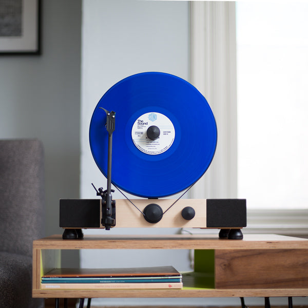 Vertical Turntable With Built In Stereo Speakers Gramovox
