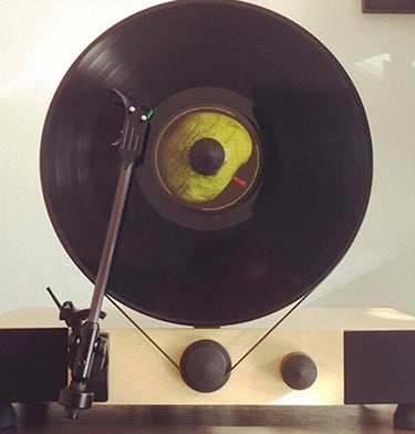 Floating Record Vertical Turntable – Vertical Record Player with Built-in Speakers | Customer Review Image Upload – Monica Hauser
