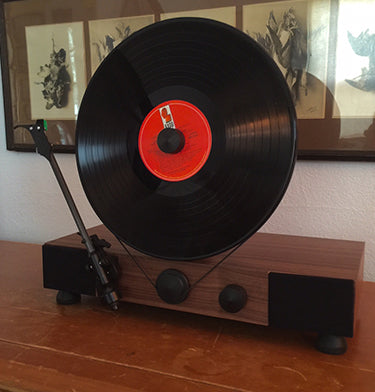 Floating Record Vertical Turntable – Vertical Record Player with Built-in Speakers | Customer Review Image Upload – Mike-Passalacqua