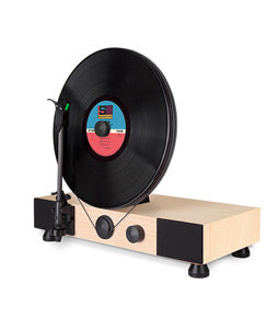 Gramovox Floating Record Vertical Turntable Maple - Angle